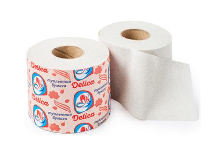 Туалетная бумага Delica на втулке оптом от производителя