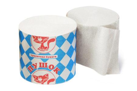 Туалетная бумага классическая Пушок оптом от производителя
