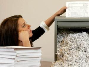 услуги по уничтожению документов для предприятий
