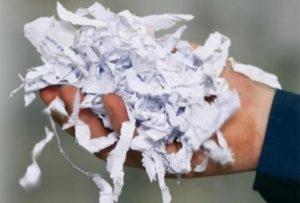 быстрое и безвозвратное уничтожение документов